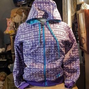 Under Armour purple white turquoise zipup hoodie S
